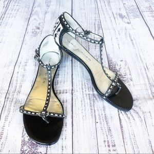 Marc Fisher Danielle2 T-strap Black Sandals 7.5